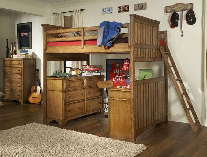 This Combination Loft Bed Has Everything The Dresser And