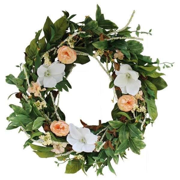 Ghirlande pasquali - Ghirlanda pasquale con fiori di magnolia