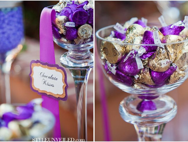 Candy Color Accents Radiant Orchid Wedding Inspiration Jenna Michele Photography Via Styleunveiled