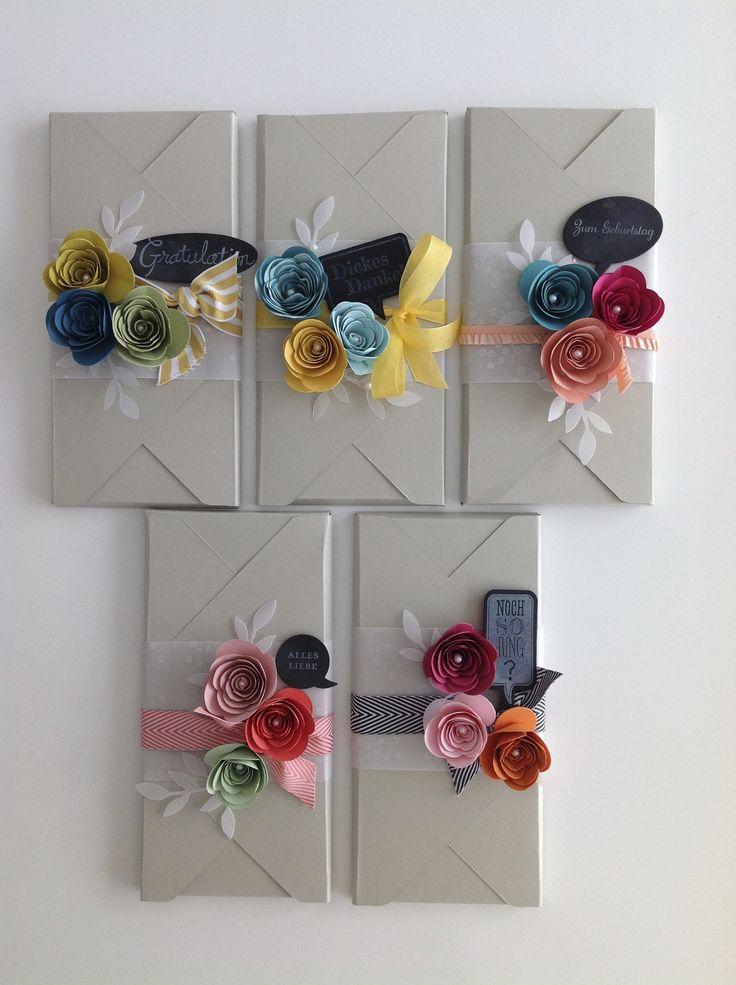 Punch Board,Spiral Flower Die + Spruchblasen mit Kreidetafeltechnik / Stampin'UP! - schnöne Deko-Idee