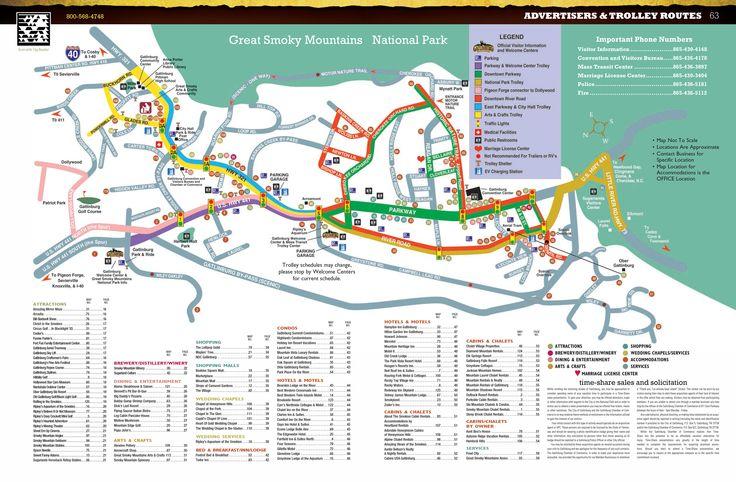Gatlinburg | Map of Gatlinburg - Gatlinburg Trolley Map - Gatlinburg TN