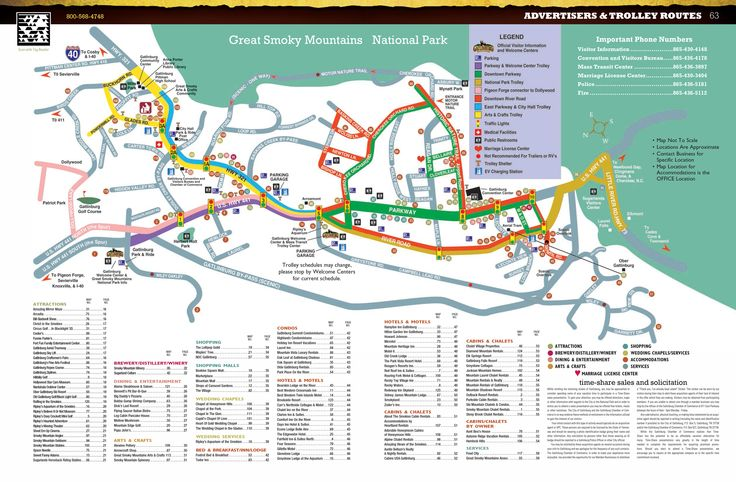 Gatlinburg Map Of Gatlinburg Gatlinburg Trolley Map