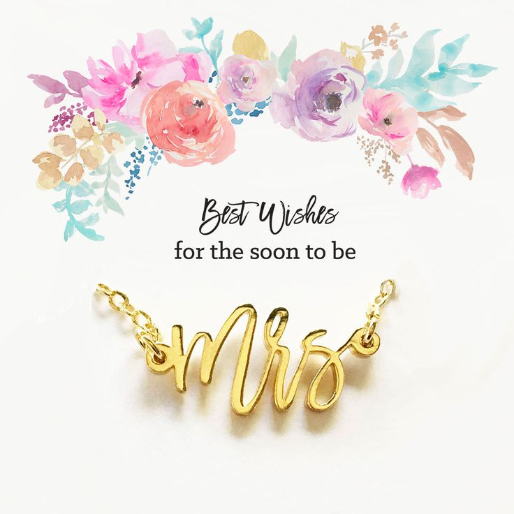 Best Wishes for the Soon the be Mrs Necklace | Bride to Be Necklace | Bride Gift Ideas | Bridal Shower Gift Ideas