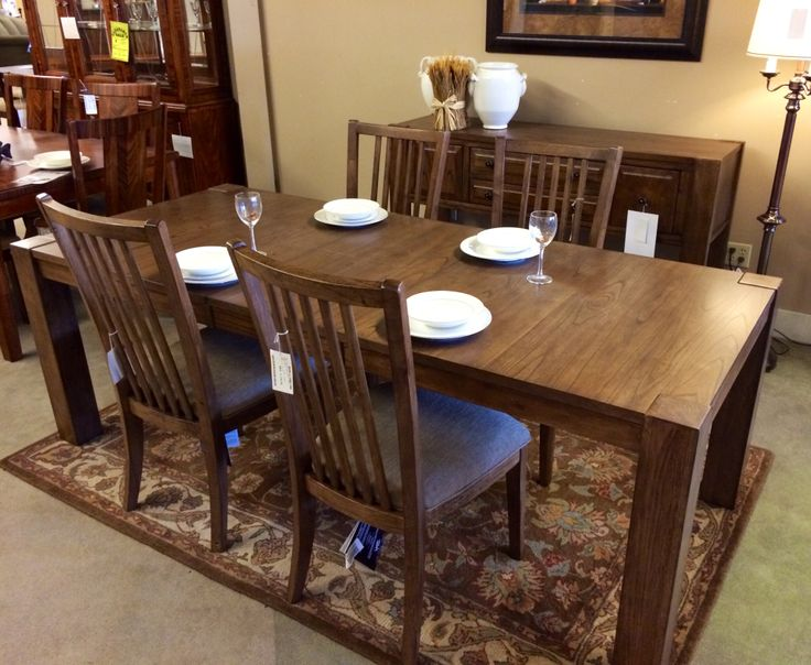 This Dining Set Just Arrived In Our Showroom It Is Narrower Than Most Tables