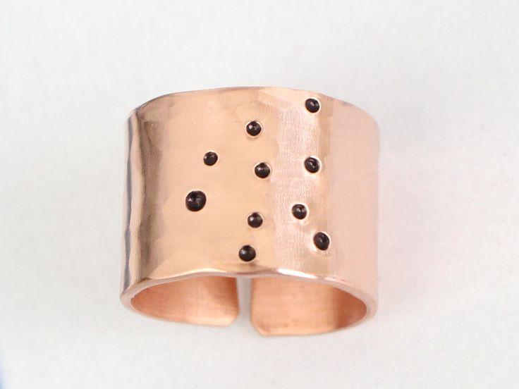 Ringe - Wassermann Sternzeichen KupferRing gehämmert 1,3cm - ein Designerstück von taufrische bei DaWanda