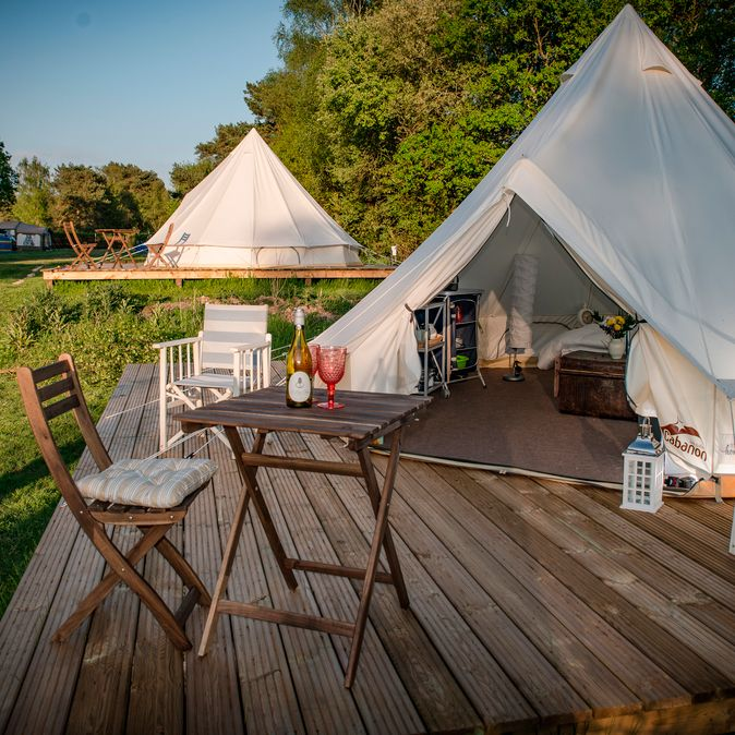 Back of Beyond Touring, Camping and Glamping Park, St Leonards - Updated 2020 prices - Pitchup® Bell Tent Camping, Camping Glamping, Luxury Camping, Outdoor Camping, Kayak Camping, Camping Tips, Outdoor Gear, Lotus Belle Tent, Tenda Camping