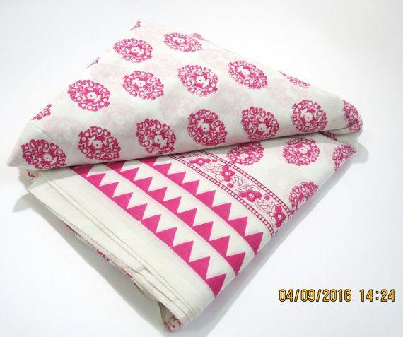 1 yard flower pattern traingular border white base by CraftyJaipur