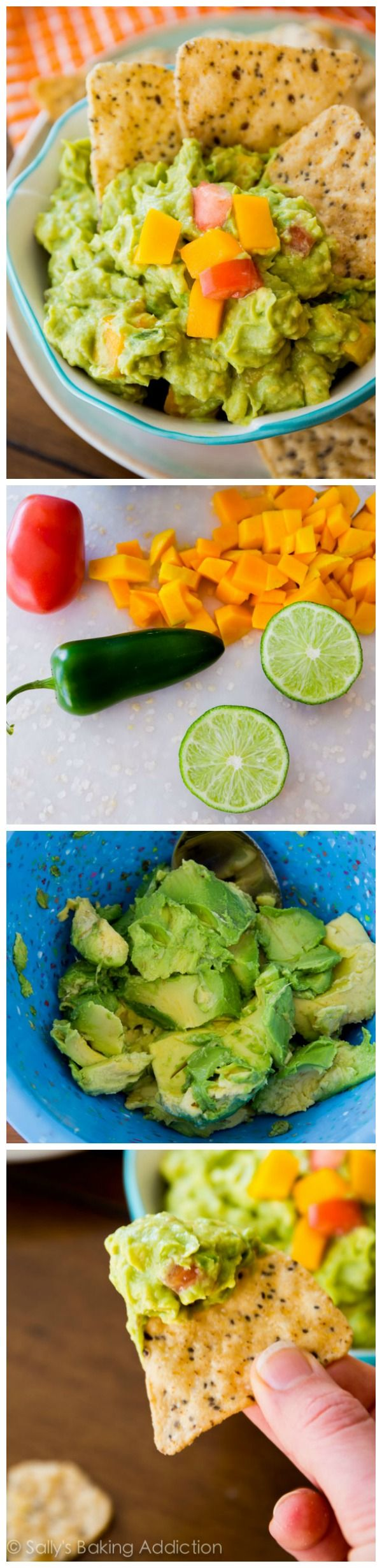The best! Classic Guacamole gets a refreshing kick with the addition of mango. Super chunky, sweet, creamy, and you can control the spice!