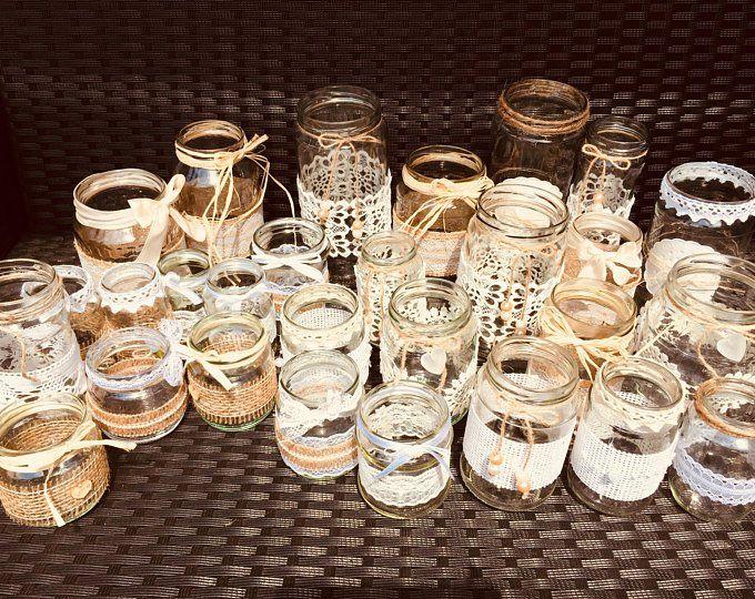 Vintage Dekoset Hochzeit Vasen Teelichter 15 Stuck Hochzeitsvasen Rosa Hochzeit Teelichthalter