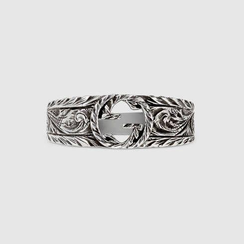 8a042d294c GUCCI Interlocking G Ring. #gucci #silver rings | Gucci Men | Rings, Gucci, Silver  rings