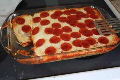 Shirley Hale shared this recipe with us. Combine traditional spaghetti with pepperoni pizza.