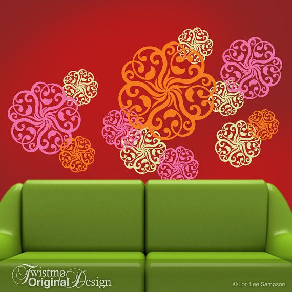 Vinyl Wall Decals Mandala Decal Doily Art Designs In 3