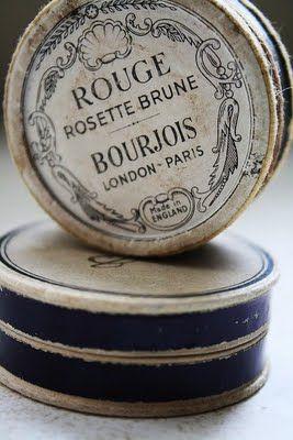 French Rouge: Vintage Types, Red, Vintage Tins, Vintage Makeup, Fonts Style, Old Tins, Antique, Vintage Decor, Vintage Style