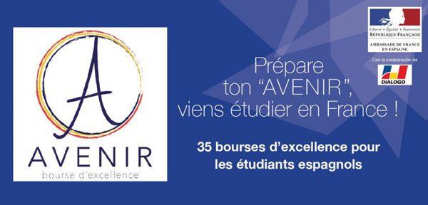 #Europa #Juventud #Becas - AVENIR, 35 becas de excelencia en #Francia para estudiantes españoles.