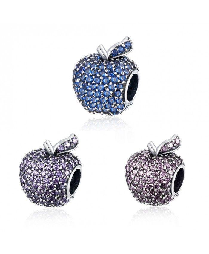 925 Sterling Silver Bracelet Charms Blue