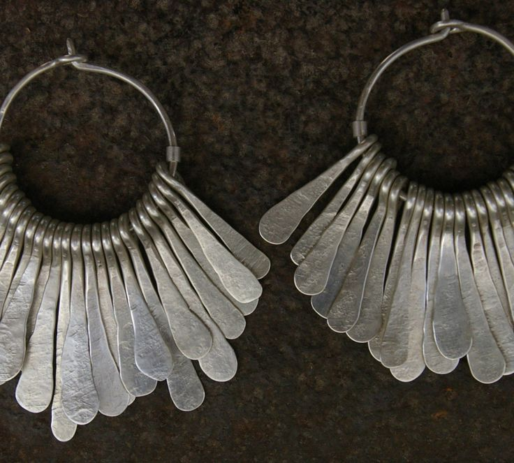 Earrings | Megan Stelzer.  Sterling silver.