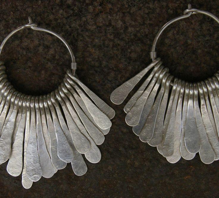 Earrings   Megan Stelzer.  Sterling silver.