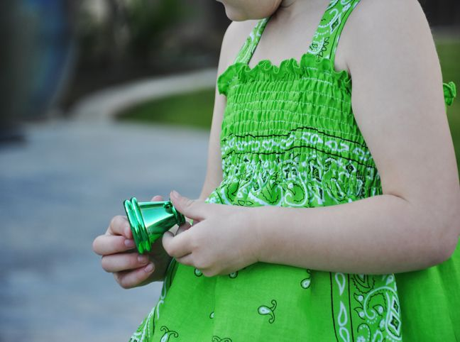 Bandana dress. I made one of these for Kimberley for St. Patricks Day and it turned out really cute!