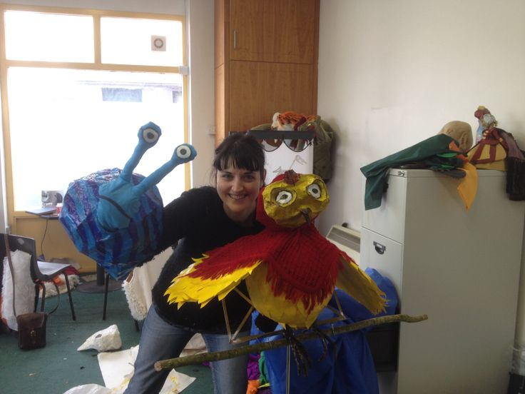 Puppets for Thomas Johnston's The Quiet Tree and the Creatures of Whistleberry Forest