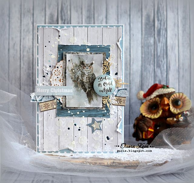 Открыточка новогодняя с совой :: ....Мой рукодельный уголок....