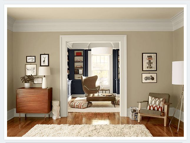Neutral Living Room Ideas   Simple, Stylish Neutral Living Room   Paint  Color Schemes (Benjamin Moore Paint U2014 Shaker Beige [ On Walls, Navajo White  [ On ...