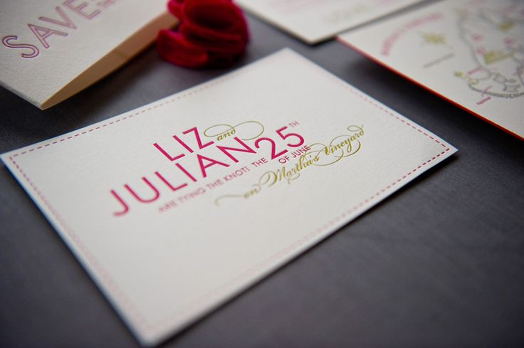 Liz + Julian's Colorful Destination Wedding Save the Dates