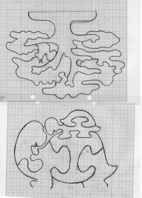 Suite à la demande d'un internaute voici quelques patrons pour puzzles bois