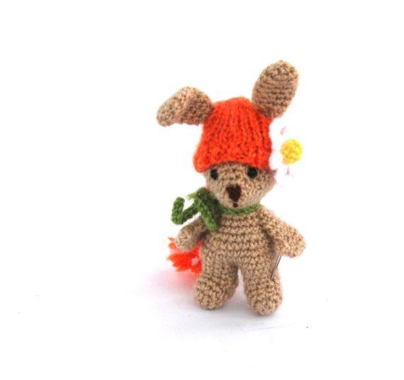 $24.56 #BUNNY #figurine, #crochet #Easter #decor, #kawaii #animal #figure, #amigurumi #doll, #Easter #basket #filler