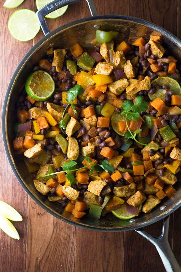 Chili Lime Chicken and Sweet Potato Skillet