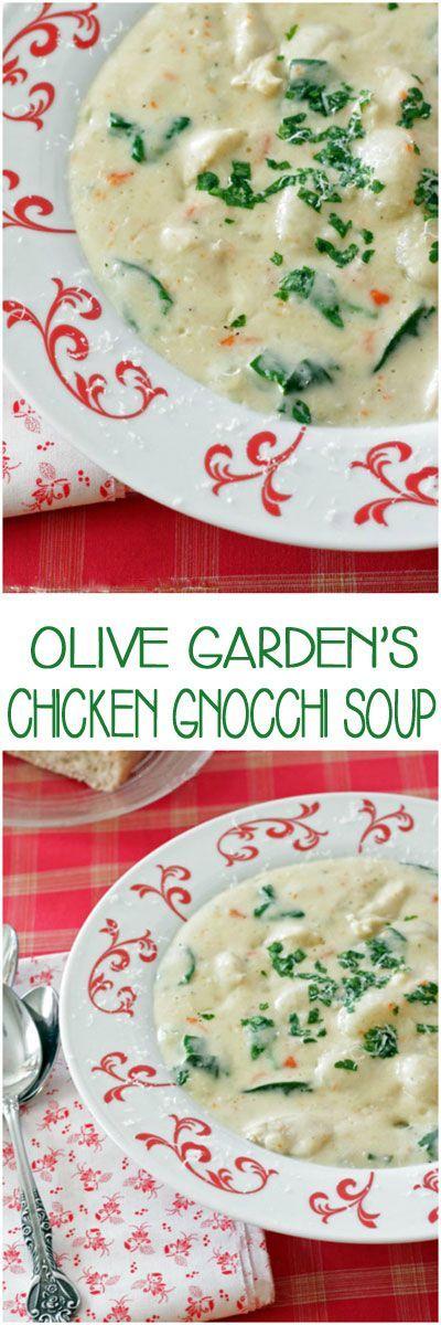 Olive Garden 39 S Chicken Gnocchi Soup Recipe Gardens Gnocchi And Olives