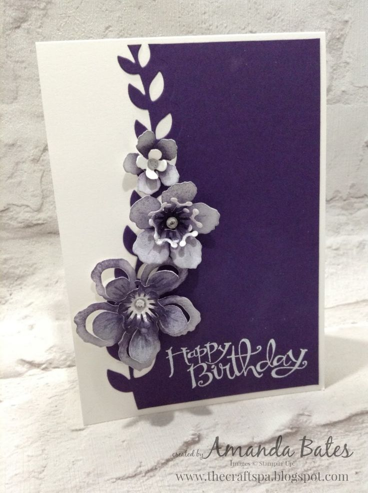 The Craft Spa - Stampin' Up! UK independent demonstrator : Botanical Blooms Trio card
