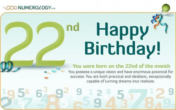 22 date of birth numerology