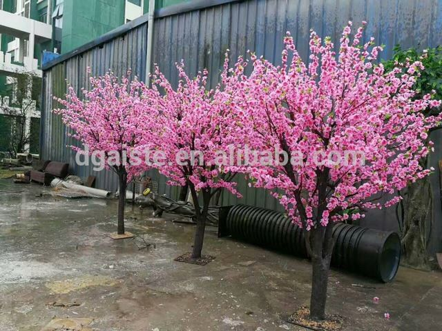 Source wholesale manufacturer hot sell cheap new design wedding decorative artificial fake pink cherry blossom tree on m.alibaba.com