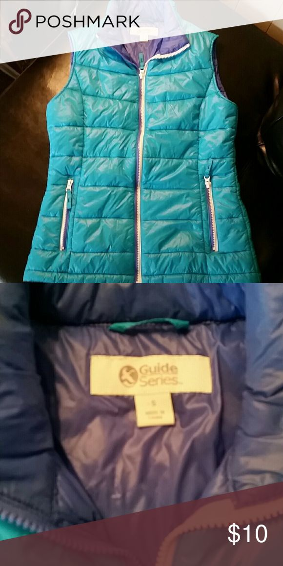Turquoise Puffer Vest Turquoise and blue on inside. Lightweight, Adorable. Excellent Shape, bought and wore once. Gander Mountain  Jackets & Coats Vests