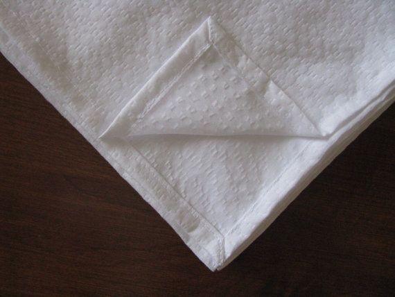 Christening blanket  lightweight white Plisse fabric
