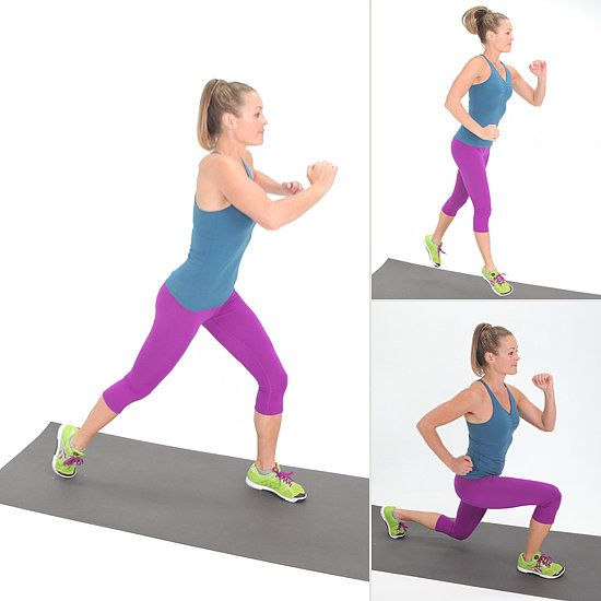 Quick! Jump Into Your Bikini With This Lunge: How to Do a Jumping Lunge | www.fitsugar.com