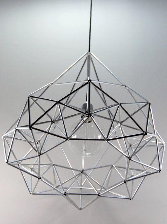 Diamond star Himmeli light pendant geometric silver by panselinos