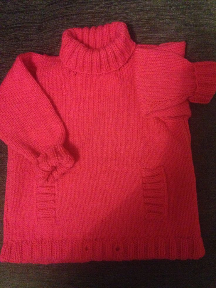 Children's DK sweater, just need to add draw string