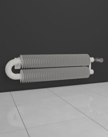 Designer HOTHOT radiator in retro style is designed for mounting on the wall. Retro Revolution WO – circle connection of two tubes where windings are situated. The colour and dimensions can be modified to your wishes.