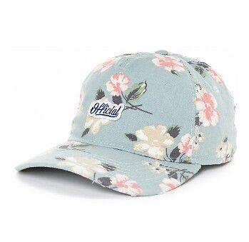 1fe6e1373e0 Top off your floral look with the Blackpool snapback hat from Official. A  blue floral hat features khaki