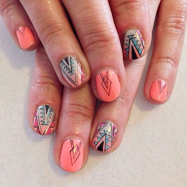The 25 best tribal nails ideas on pinterest nails summer nails tribal nails 43 600x600g 600600 prinsesfo Gallery