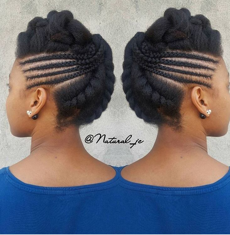 Nattes Coiffure Nappy Natural Hair Updo Hair Styles Short Natural Hair Styles