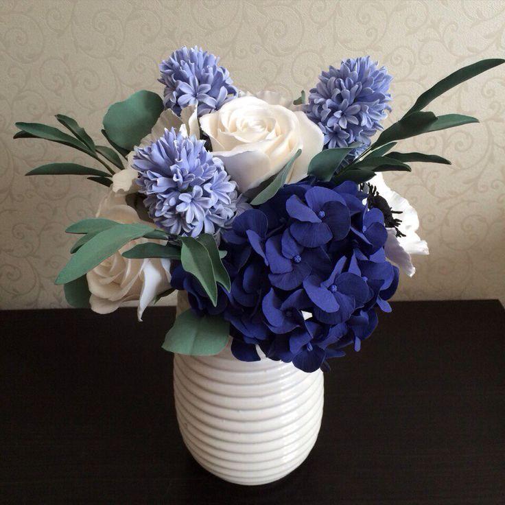 Polymer clay flower arrangement
