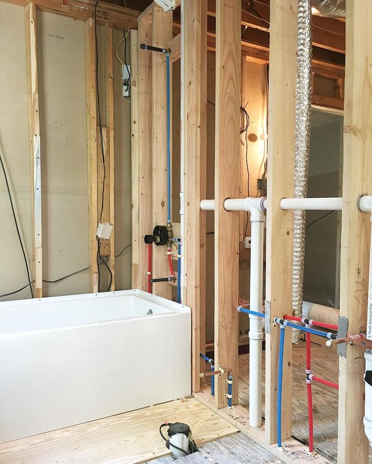 High Quality Back Bath Rough In. As I Mentioned Before We Took Our Time And Laid The  Wall Studs Out Exactly Where We Needed Them So They Didnu0027t Interfere With  Any Of The ...