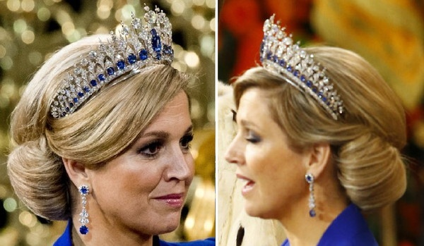 Our new Queen Maxima with a beautiful chignon