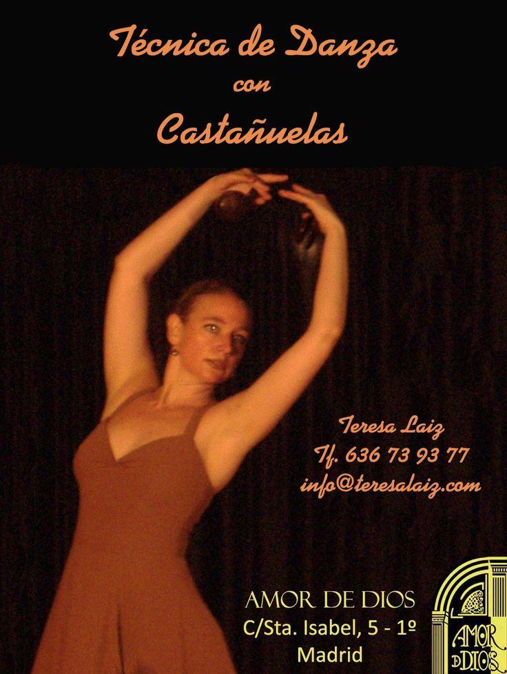 TÉCNICA DE DANZA CON CASTAÑUELAS, Clases en Amor de Dios, Madrid.  Comienza: 18 de Abril 2017.  Centro de Arte Flamenco y Danza Española AMOR DE DIOS de Madrid. C/Santa Isabel, 5 - Madrid (Metro Antón Martín) - Spain Teresa Laiz - Tf. +34 636739377 - info@teresalaiz.com www.teresalaiz.com  #castañuelas #danza #madrid @amordediosflamenco @teresa_laiz #nuevos #curso #baile