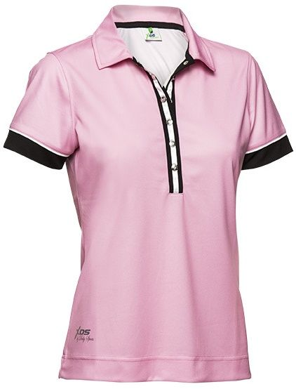 Pink Parfait Daily Sports Ladies HOLIDAY Arlene Short Sleeve Golf Polo Shirt. More stylish ladies golf outfits at #lorisgolfshoppe
