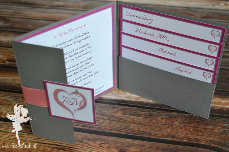 Wedding pocketinvitation weddingpapeterie pocketfold for Pinterest hochzeitseinladung