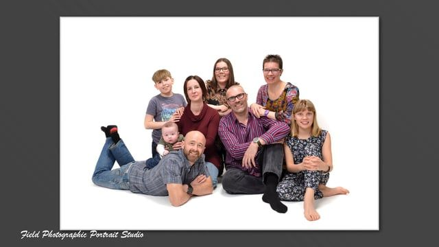 A Family photo shoot at Field Photographic Portrait Studio