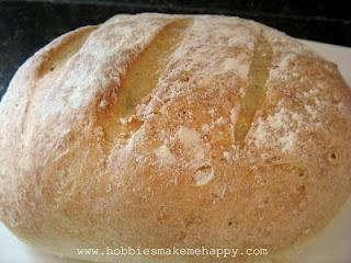 Rustic Crusty Bread- 4 ingredients